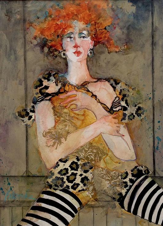 Bonnie-Wood-Cat-Woman-watercolor