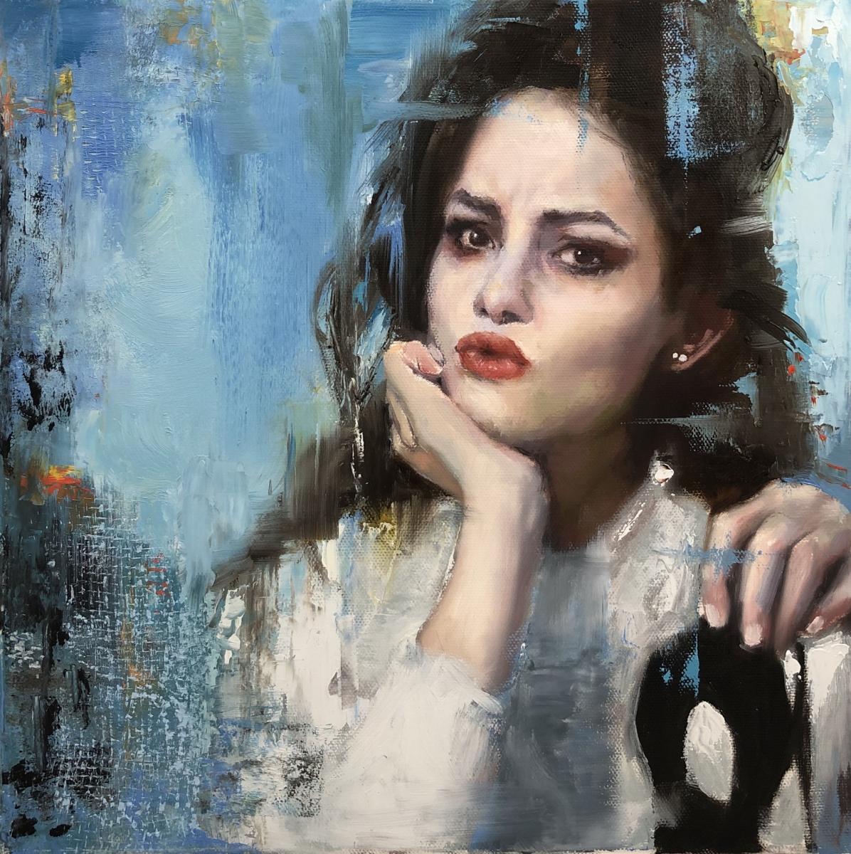 Lackman-Kate-Masks-Oil-on-canvas-12-x-12