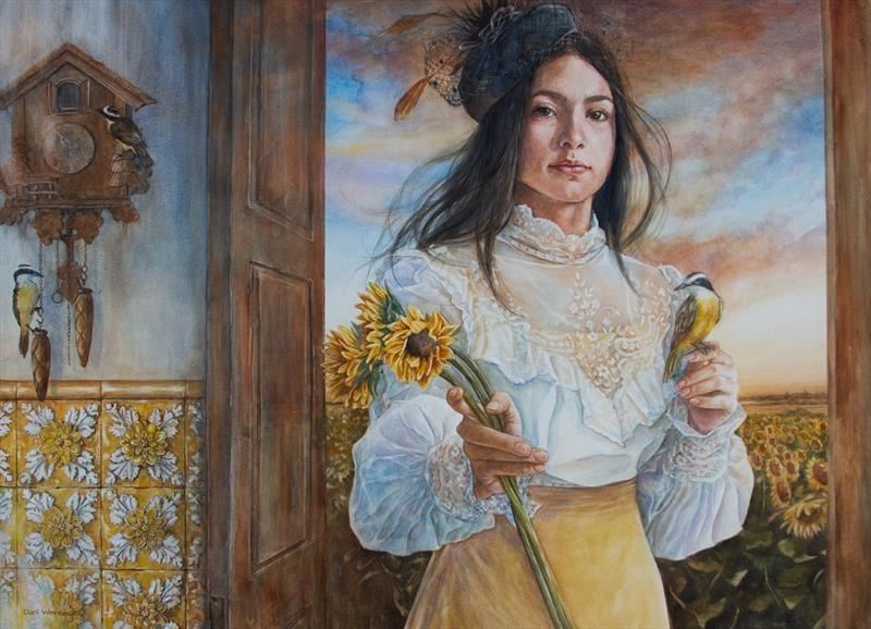 Werneck-Daniela-The-Great-Kiskadee-Watercolor-22-x-30