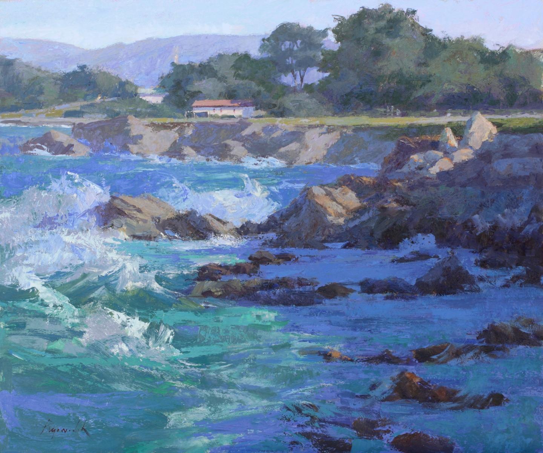 """Surf in Light, oil on panel, 20"""" x 24"""""""