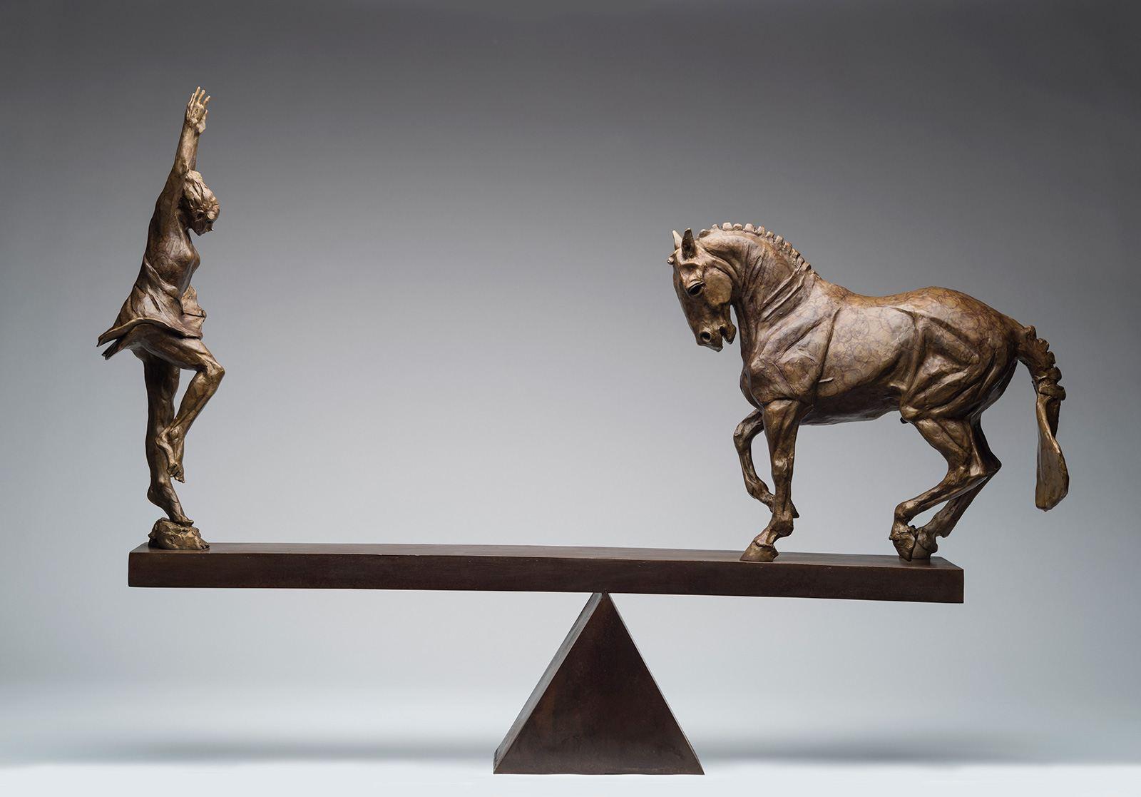 """Equipoise, bronze, 39"""" x 48"""" x 10"""""""