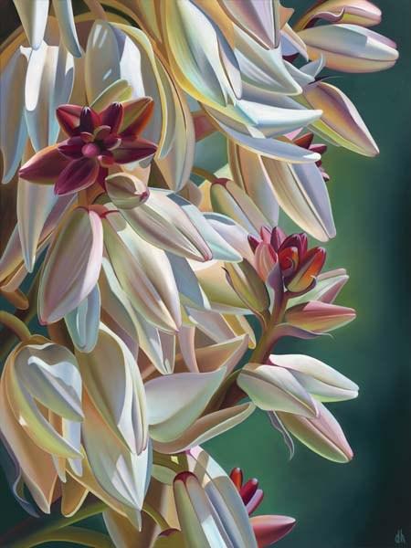 "Arizona Dinner Bells – Yucca Blooms, Superior, AZ, Oil on canvas, 40"" x 30"""