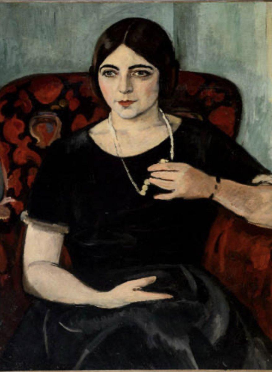 """Portrait of Edith Gregor Halpert,"" Samuel Halpert (1884-1930), oil, 1928, Palmer Museum of Art, Pennsylvania State University, University Park, PA, digital.libraries.psu.edu."