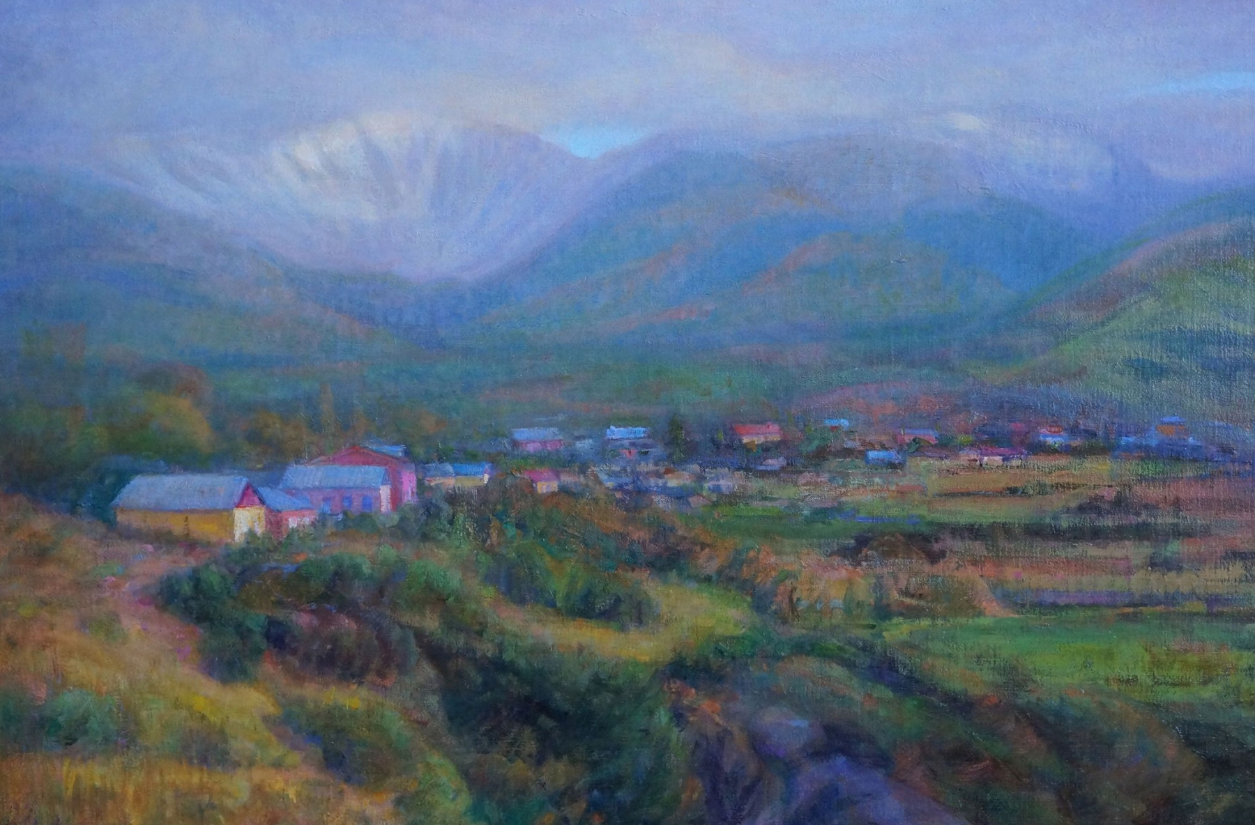 """Peaceful Valley, oil, 24"""" x 36"""""""