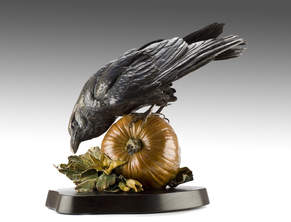"Ravenous, bronze, 18"" x 13"" x 11"""