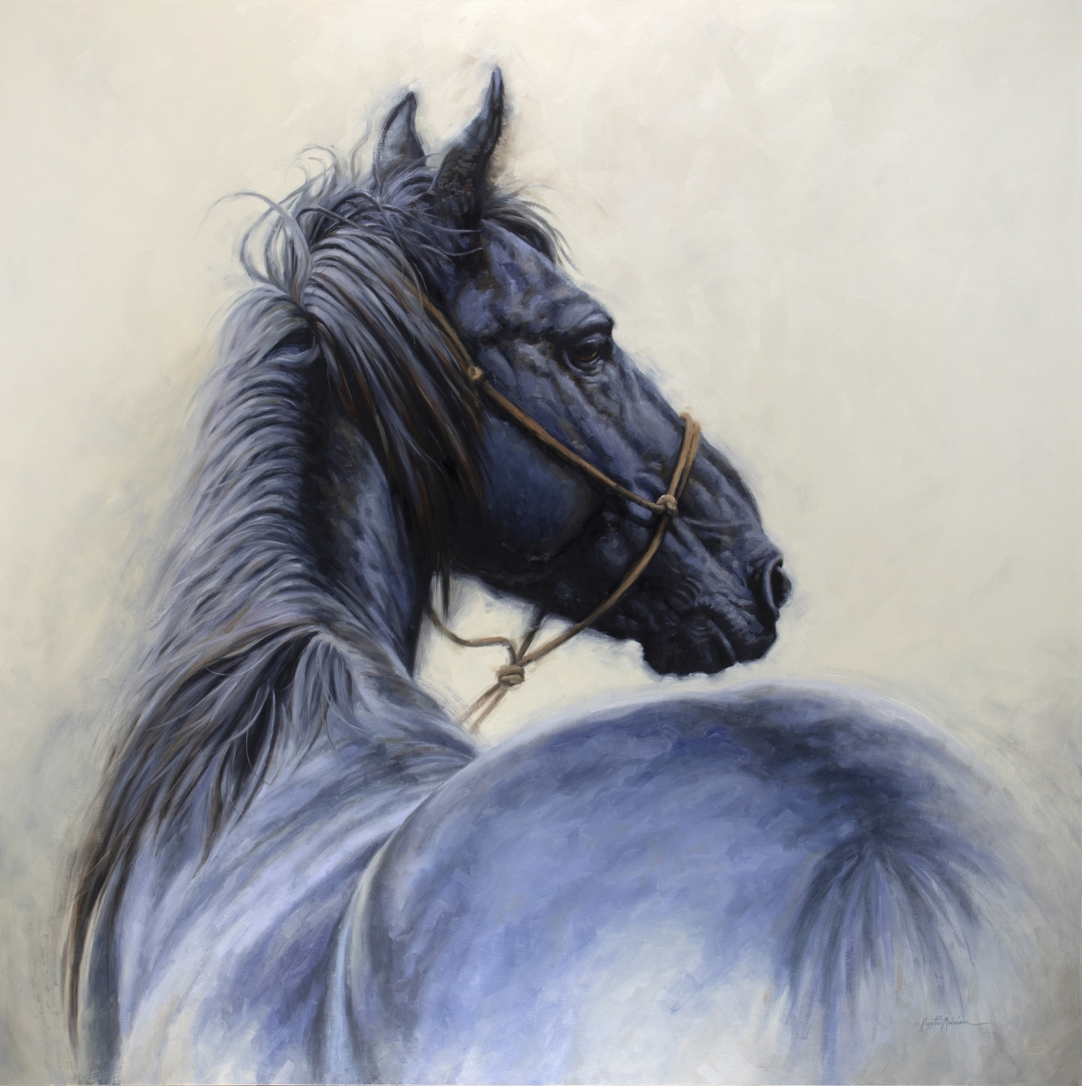 """Mustang, oil on panel, 48"""" x 48"""""""