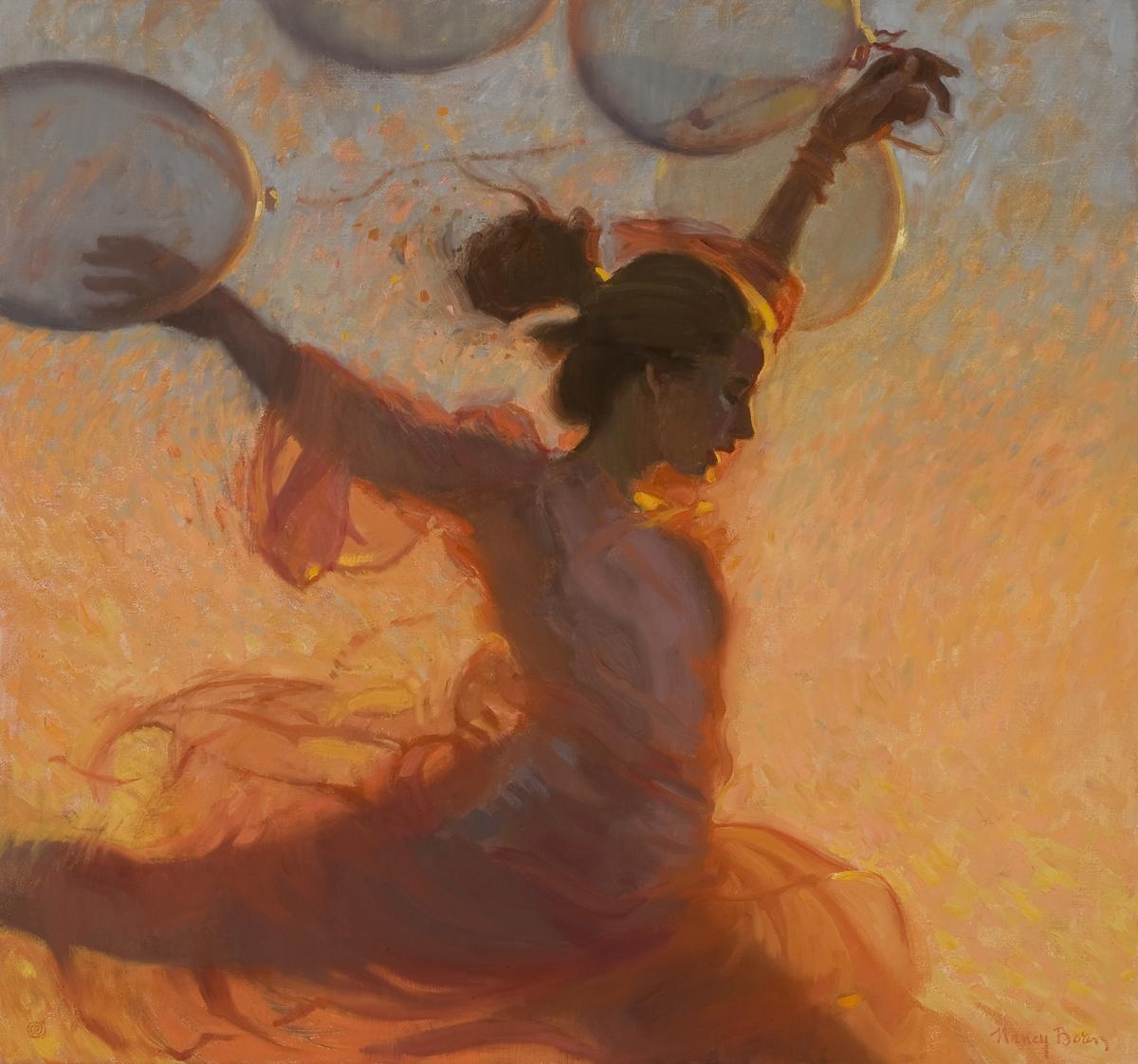 "Cimarron Solstice, oil on canvas, 30"" x 32"""