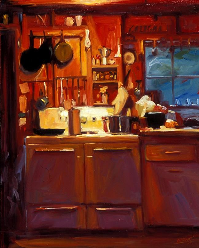 """Vermont Kitchen, oil, 20"""" x 16"""""""
