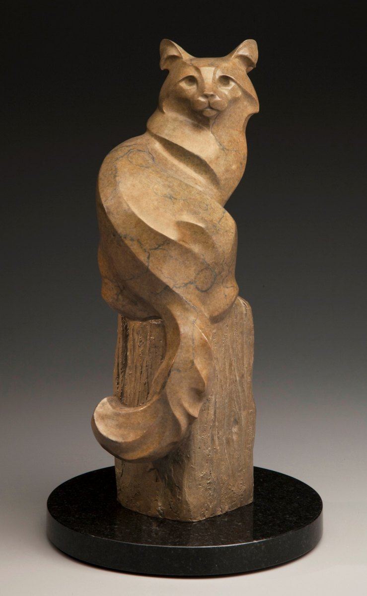 """On the Fence, bronze, 14"""" x 8"""" x 8"""""""