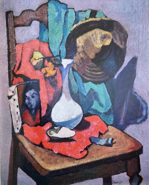 Anita Brown (1912-1997) Still Life, oil, 1946, Emerging from the Shadows, Volume I, A-D, pages 128-131. [ Born in Cuba, her family returned to US and settled in Chula Vista, CA. [In the 1930s Brown became one of the first studio artist-in-residence at San Diego's Spanish Village in Balboa Park]