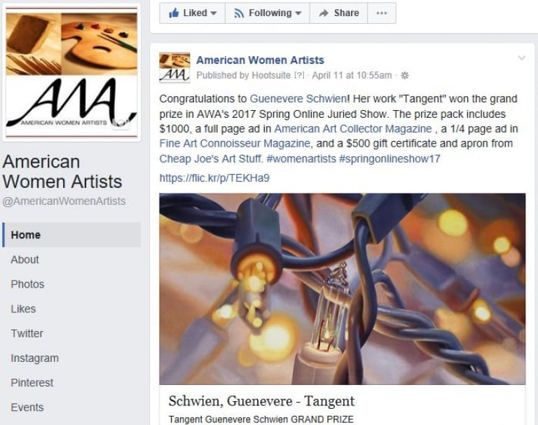 Social Media Form to Promote Your Art News
